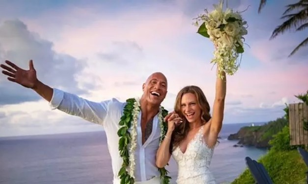 'The Rock' Johnson Marries Long Time Girlfriend Lauren Hashian In Hawaii