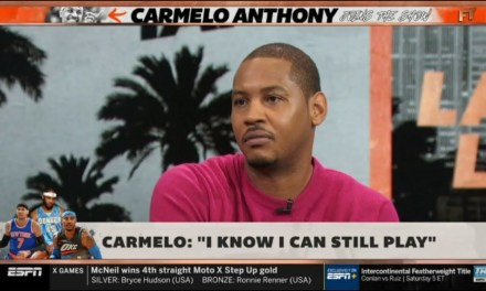 Watch Carmelo Anthony Speak With Stephen A. Smith on Houston Rockets, Farewell Tour on 'First Take'