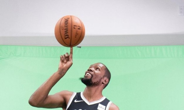 Kevin Durant Puts on Brooklyn Nets Full Uniform For The First Time