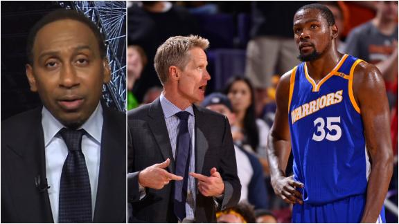Stephen A. Smith Drops New Details On KD and Steve Kerr's Relationship