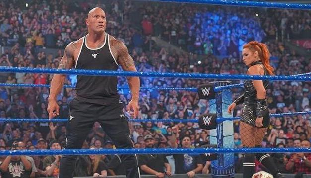 'The Rock' Drops the People's Elbow in Return to the WWE Ring