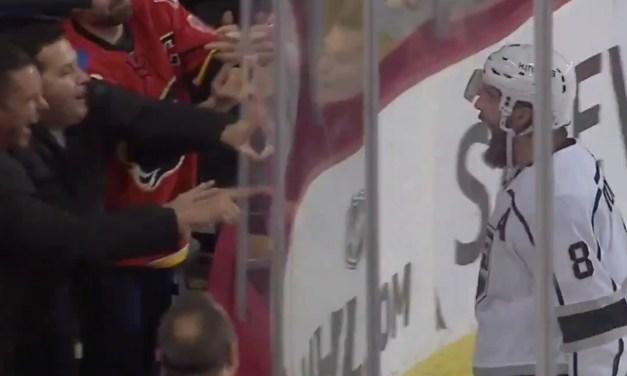 "Kings Defenseman Drew Doughty Tells Flames Fans to ""Suck It"" After Game Winning Goal"