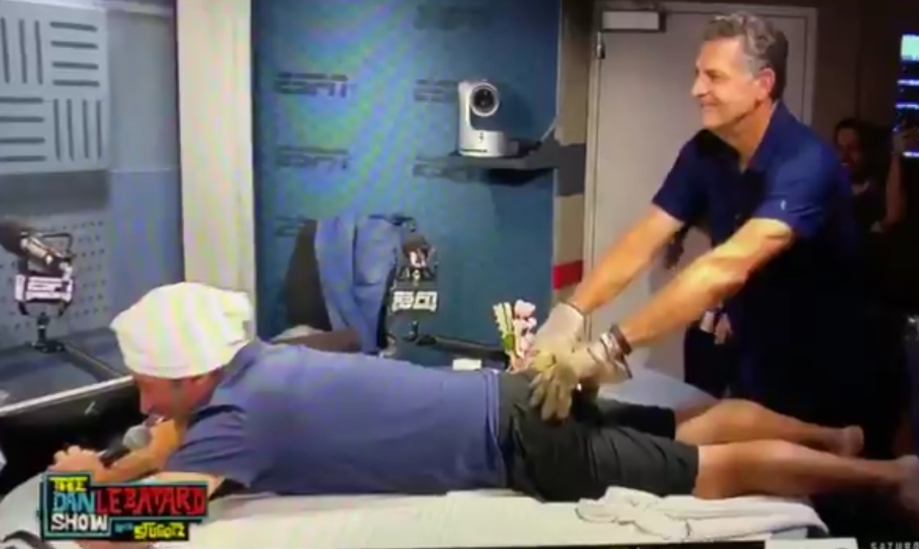 Mike Golic Paid Off a Bet by Giving Stugotz a B#tt Massage