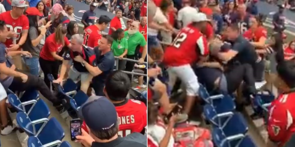 A Big Brawl Broke Out Between Texans and Falcons Fans