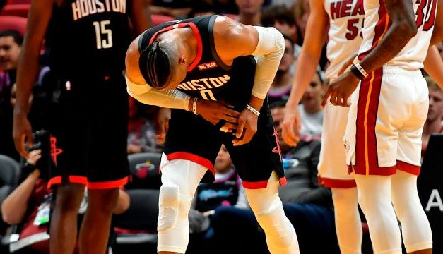 Rockets Say Russell Westbrook Fine Despite Exiting Late