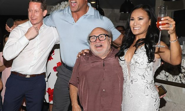 The Rock and Danny Devito Crashed a Wedding in Mexico