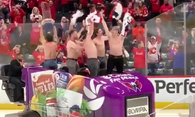 Nationals Players Celebrated World Series Victory With a Shirtless Zamboni Ride at a Caps Game