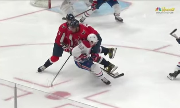 Alex Ovechkin Flattened Jonathan Drouin With a Huge Hit
