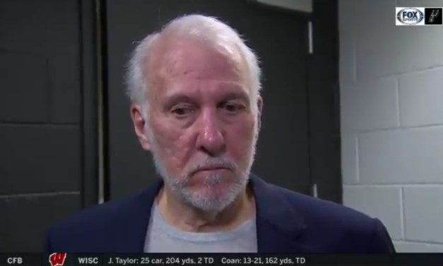 Gregg Popovich Says He's Not Here to Make History After Tim Duncan Was Given the Coaching Duties Following His Ejection Instead of Becky Hammon
