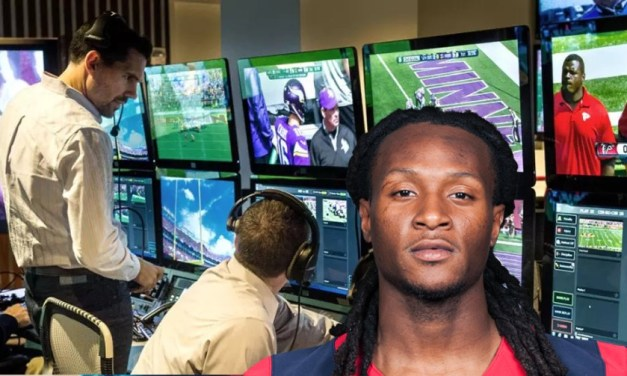 DeAndre Hopkins Takes a Shot at the NFL Review Booth in New York