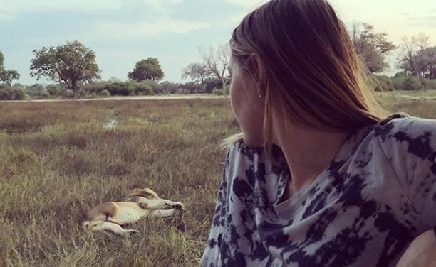 Maria Sharapova Frightened by Lion's Roar During Safari Trip