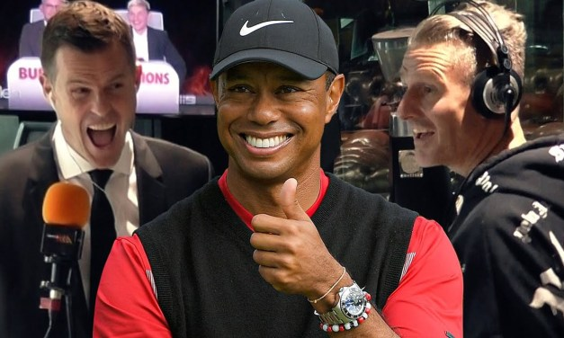 Tiger Woods Accidentally Drops An F-Bomb On Air