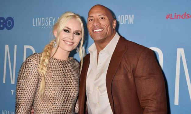 The Rock Attends Lindsey Vonn: The Final Season Red Carpet Premiere