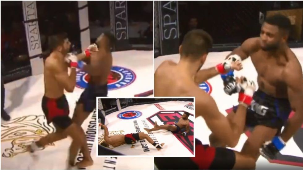 MMA Double Knockdown Leads to KO Win After Both Fighters Land HUGE Left Hooks
