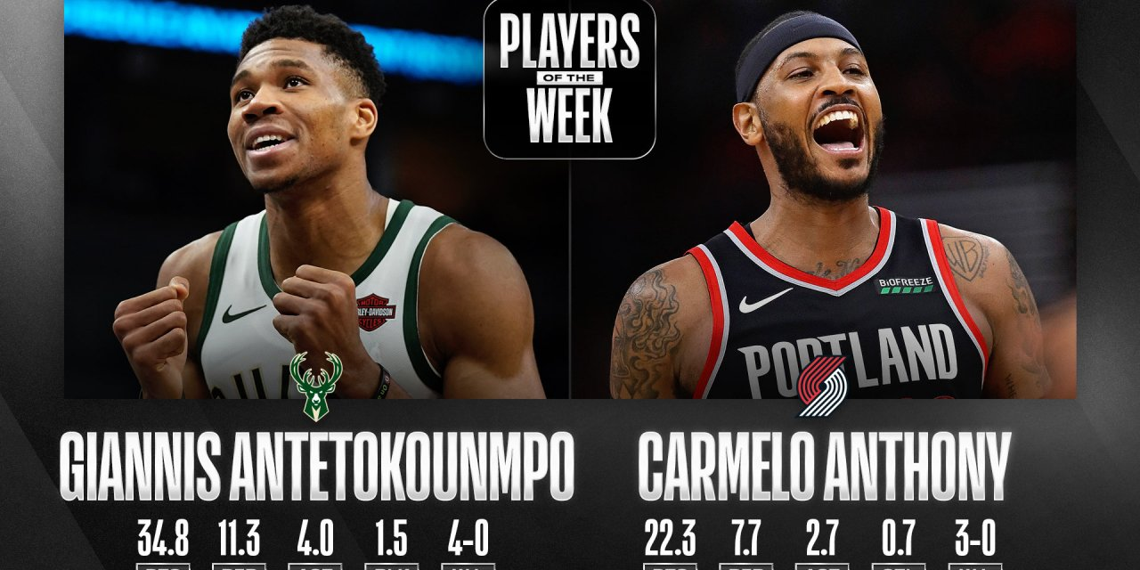 Carmelo Anthony Named Western Conference Player of the Week