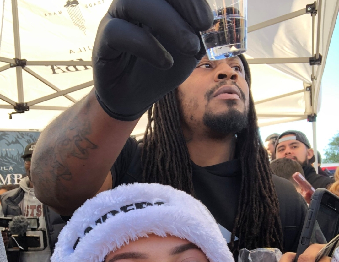 Marshawn Lynch Handed Out Shots of Tequila During Raiders Tailgate