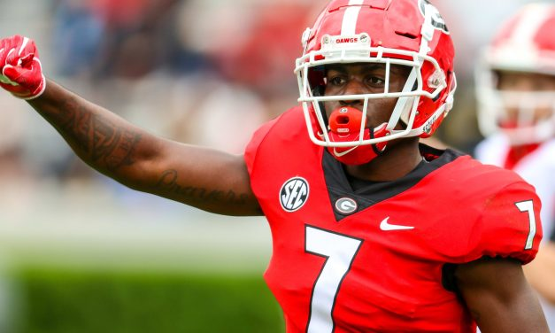Georgia DB Tyrique Stevenson Carted Off the Field With Cramps