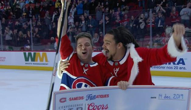 Canadiens Fan Wins $50,000 On Nearly Impossible Shot