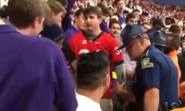 Georgia Fan Did Not Go Quietly When Security Arrived At His Seat