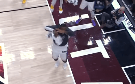 Jazz Announcers Weren't Happy at All With LeBron Celebrating on the Court at the End of the Game Without His Shoes On