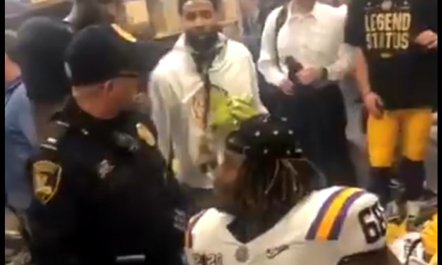 Odell Beckham Slapped a Cop's Butt in the LSU Locker Room as They Were Attempting to Shutdown the Fun