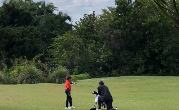 Another Video of Tiger Woods' Son Charlie Playing Golf Surfaces