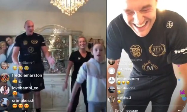 Tyson Fury's Son Dropped an F-Bomb on His Dad After Being Kicked Out of Their Quarantine Home Workout