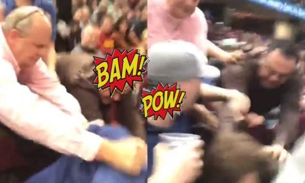 Fan Fight: A Grandpa Cavs Fan Punches Another Fan In The Neck