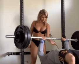 Paige VanZant Did a Late Night Workout With Her Husband Completely N#de