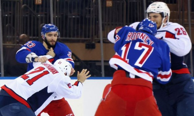 Fist Period: Caps, Rangers fight right out of gate