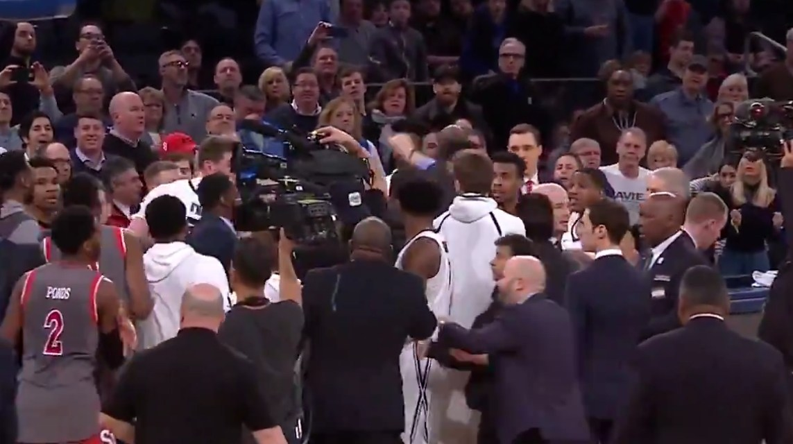 The Xavier-St. John's Handshake Line Got A Little Chippy