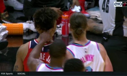 Dwyane Wade T'd Up For Poking Kelly Oubre in the Back of the Head