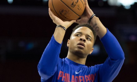 Markelle Fultz Back Practicing His Free Throw Shooting