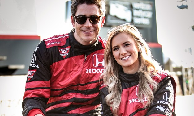Indy 500 'Bachelor' Driver and Fiancee Visit the Race Track