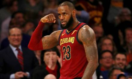 LeBron James Gives Fan His Arm Sleeve after Reading Sign