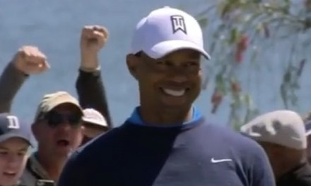 Tiger Woods With the 71 Foot Dropper