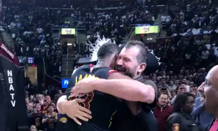 Joe Thomas Attends Cavs Game, Gets Some Love From LeBron