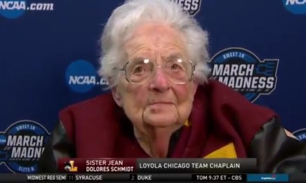 Sister Jean's Bracket is Busted and She Doesn't Care