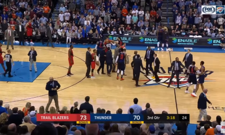 Things got Heated Between the Trail Blazers and Thunder