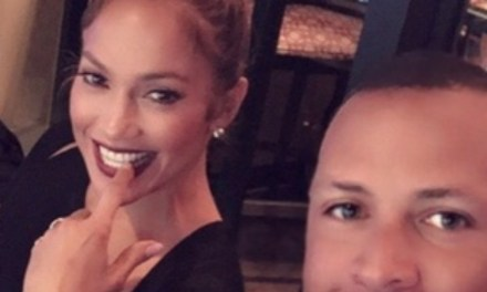 A-Rod and J-Lo Getting Cozy in Selfie