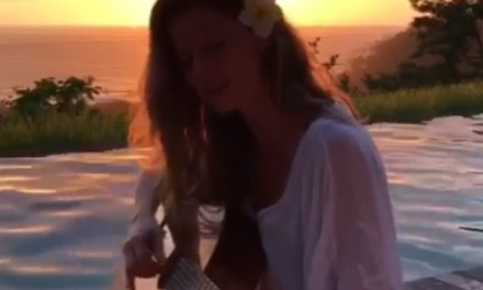 Brady's Son Videobombs Gisele While She's Busy Serenading Tom