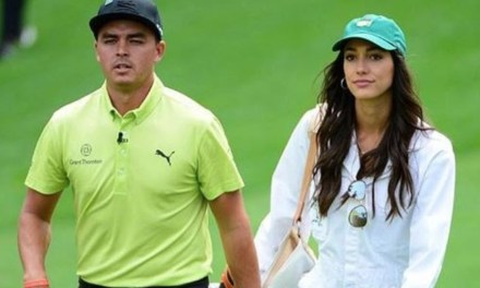 Allison Stokke Served as Ricky Fowler's Caddie at the Masters Par 3 Contest