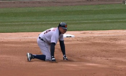 Miguel Cabrera Leaves Game Early after Falling Down Running the Bases