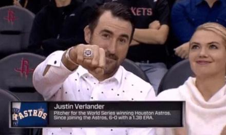 Justin Verlander and Kate Upton Take in an NBA Game