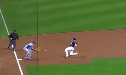 Jon Lester Successfully Used a Bounce Pass to throw a Runner Out