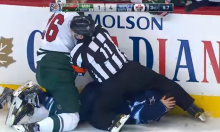 The Wild and Jets Playoff Game Ends with a Fight
