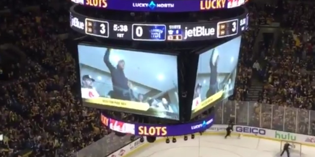 """Red Sox Pitcher Joe Kelly Received a Standing Ovation as a """"Yankees Suck"""" Chant Broke Out at the Bruins Game"""