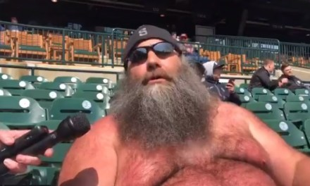Tiger Fan Chewbacca Explains Why He's Shirtless