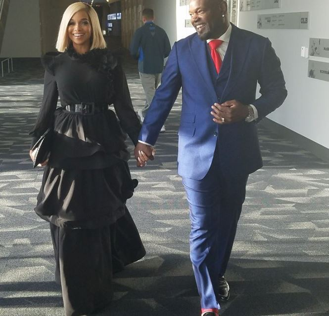 Emmitt Smith And Wife Attend All-Star Gala