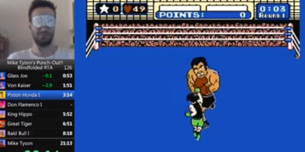 Gamer Beats Mike Tyson's Punch-Out Blindfolded